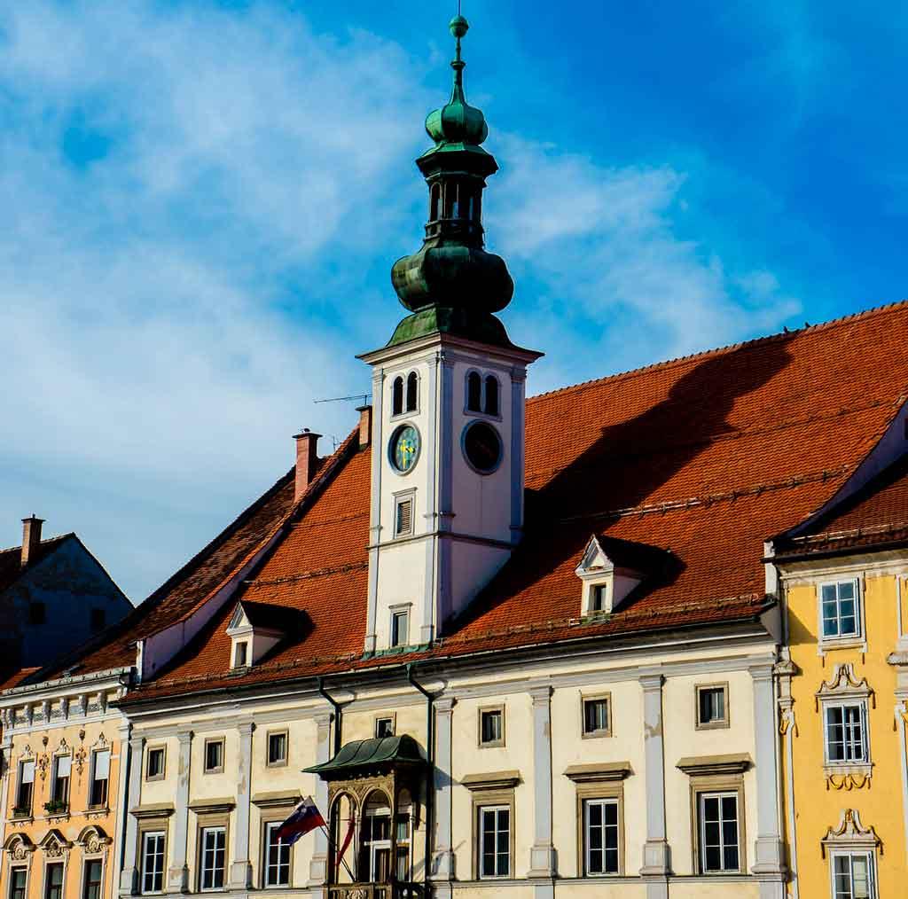Maribor Eslovênia praça do castelo