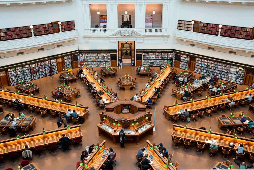 Melbourne Austrália state library of victoria