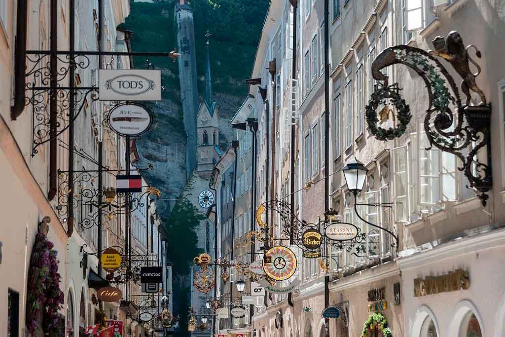 Salzburg Austria getreidegasse