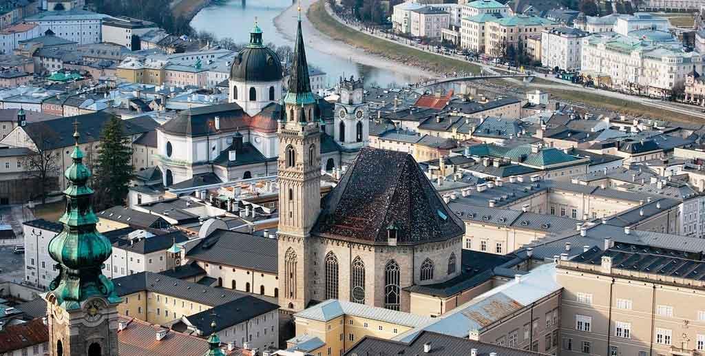 Salzburg Austria igreja de São Francisco