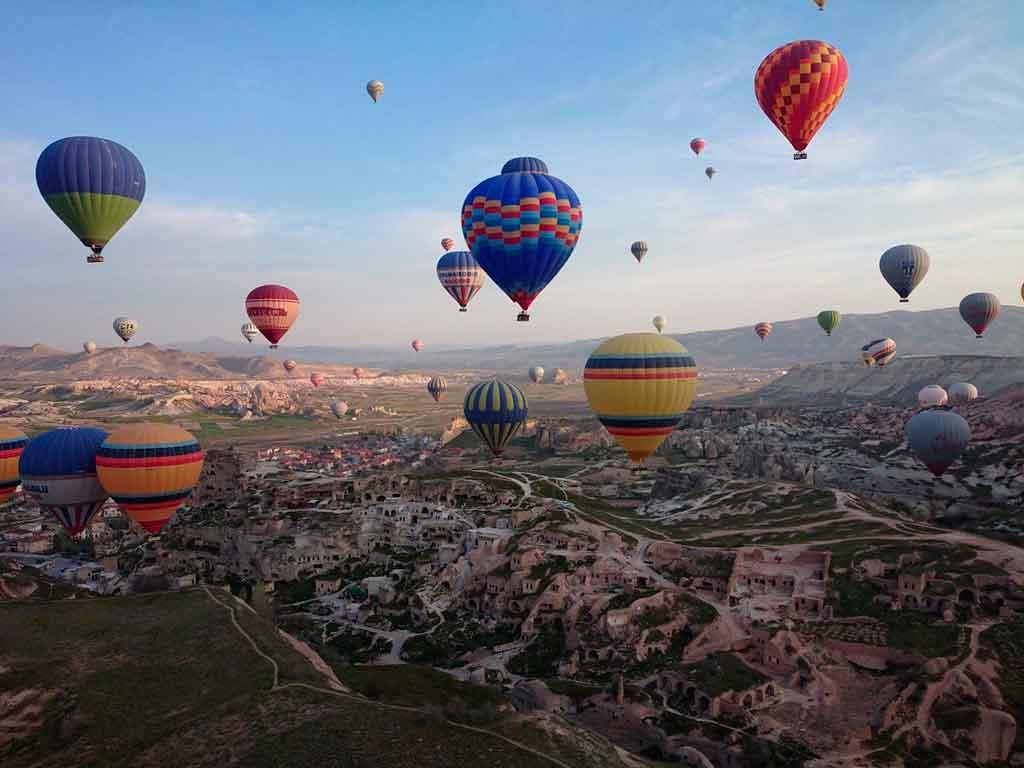 Balões na Capadócia como é