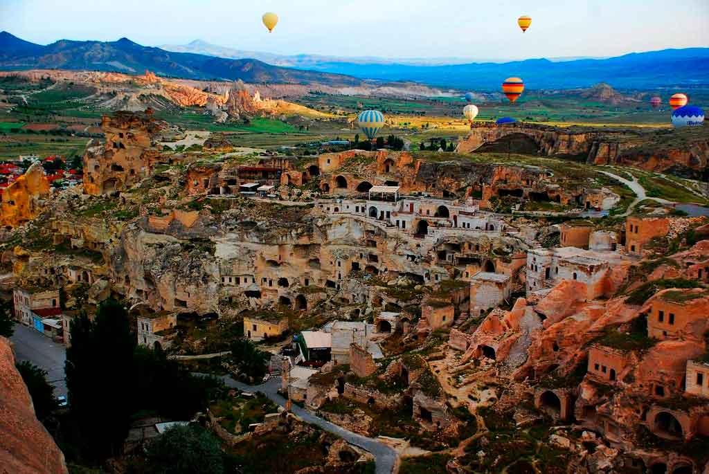 Balões na Capadócia e segura