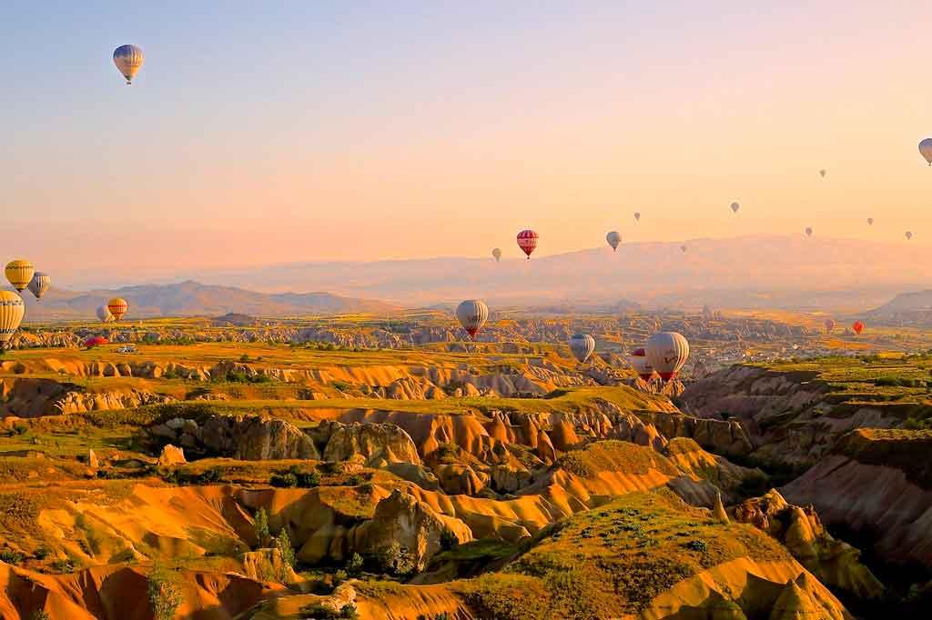 Balões na Capadócia onde andar