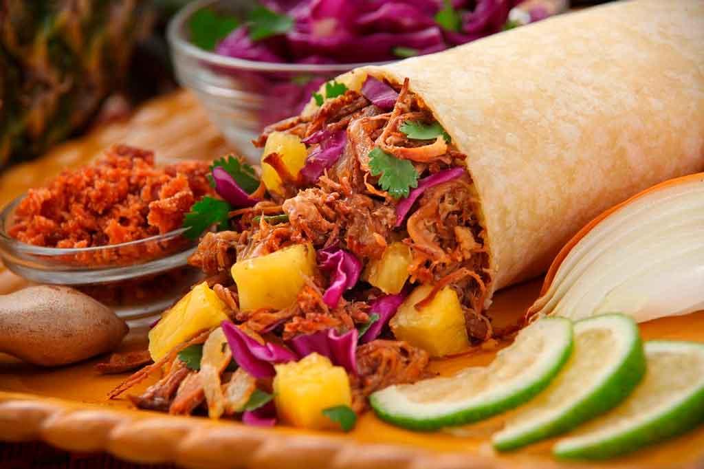 Comidas típicas do méxico Burritos
