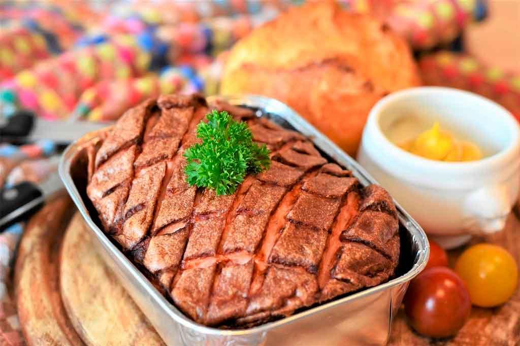 Comidas típicas dos EUA bolo de carne