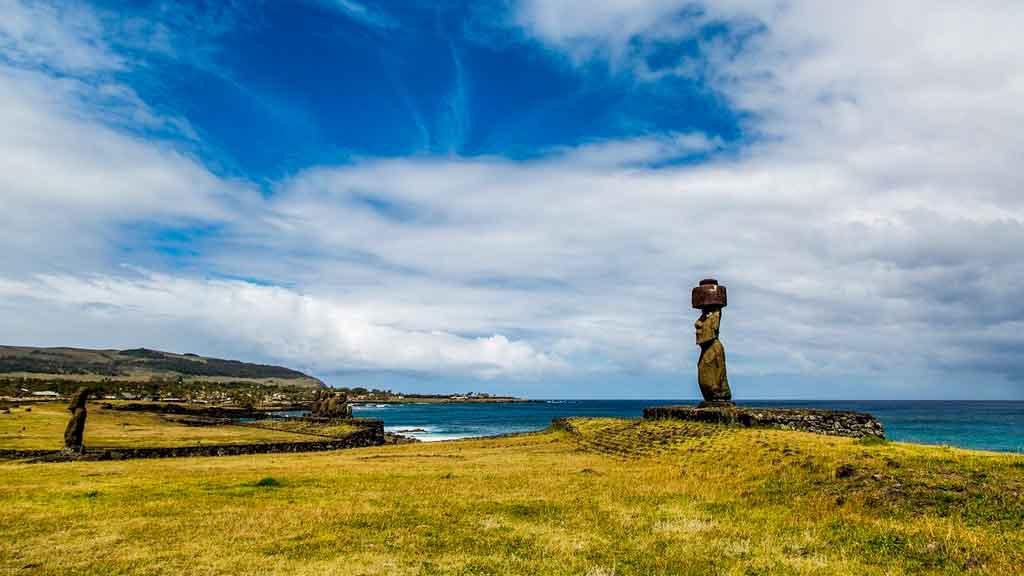 Ilha de Pascoa Aldeia de Orongo