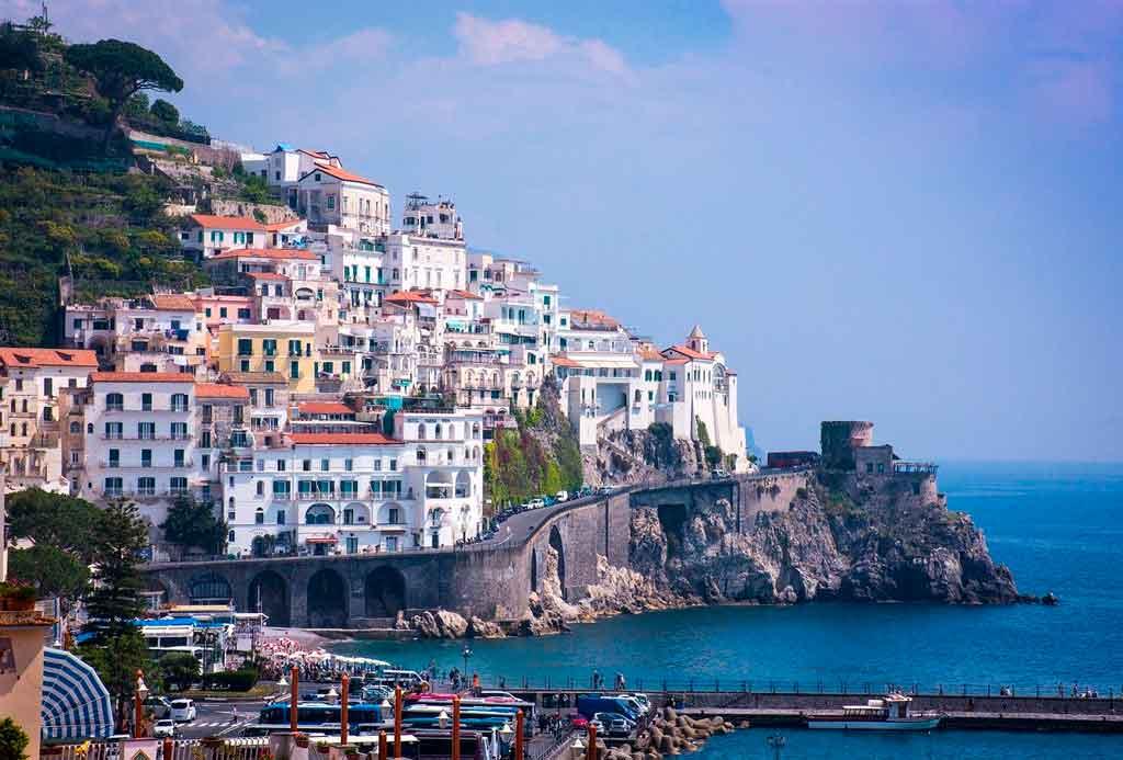 Mapa Itália costa amalfitana