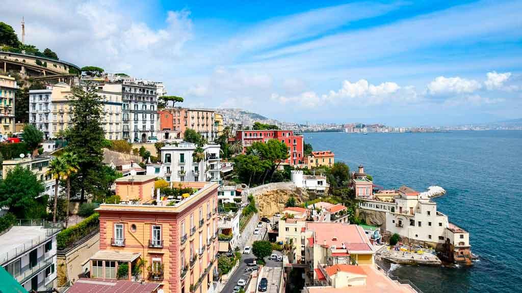 Mapa Itália Napoli