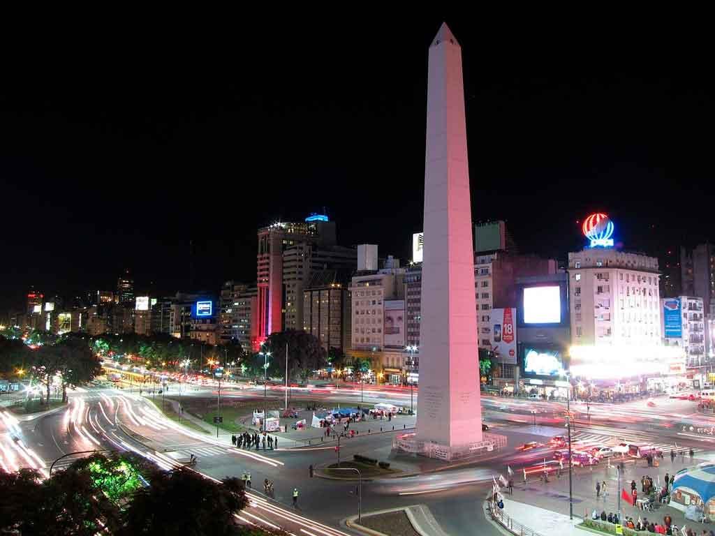 Pontos turísticos em Buenos Aires obelisco