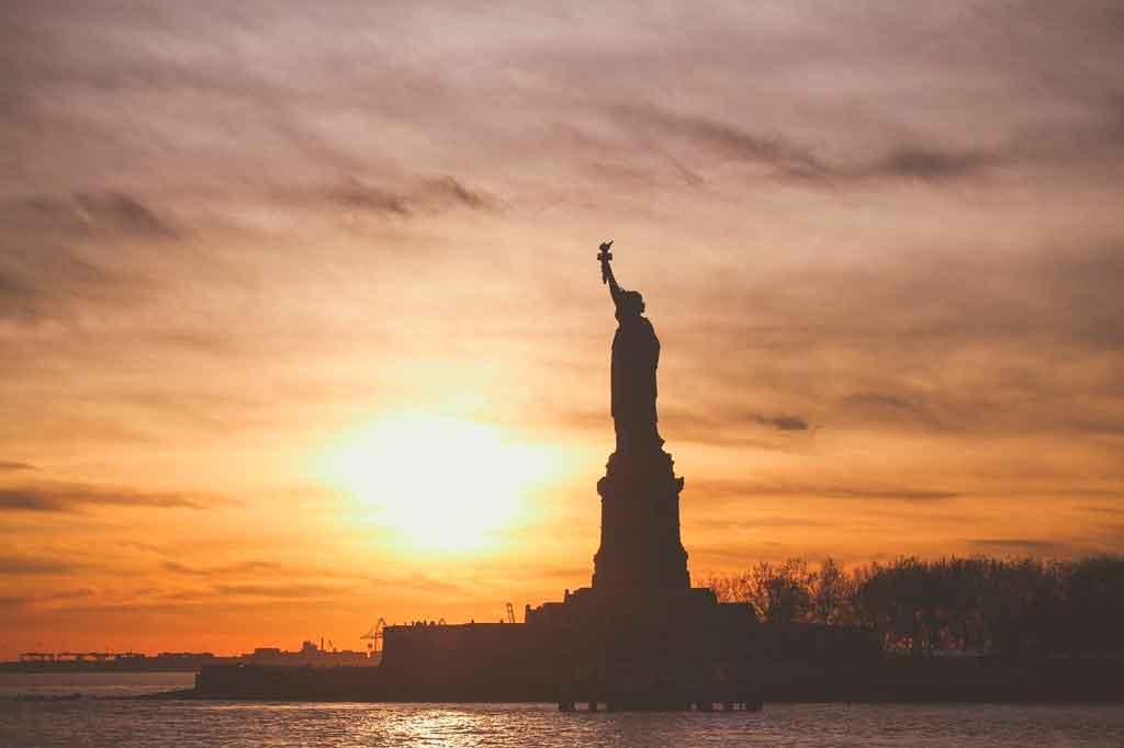 Pontos turísticos nos Estados Unidos estatua da liberdade