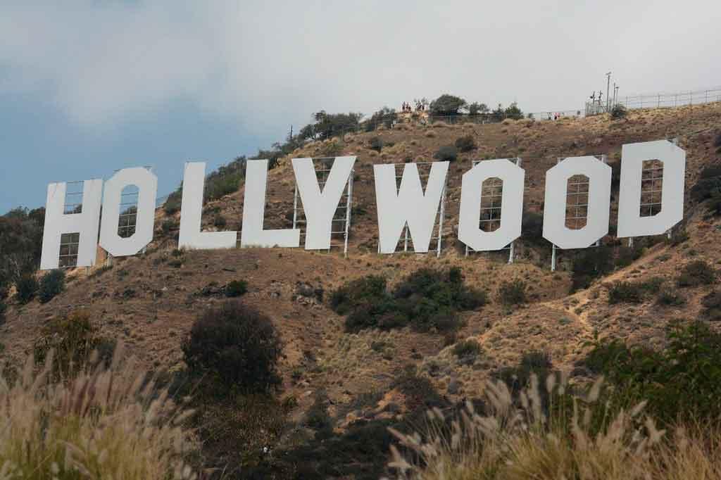 Pontos turísticos nos Estados Unidos letreiro hollywood