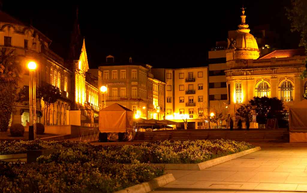 Braga Portugal a noite