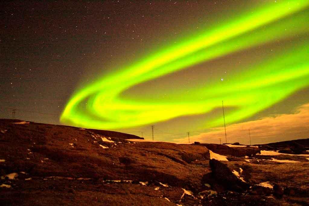 Groelandia Mapa Aurora Boreal
