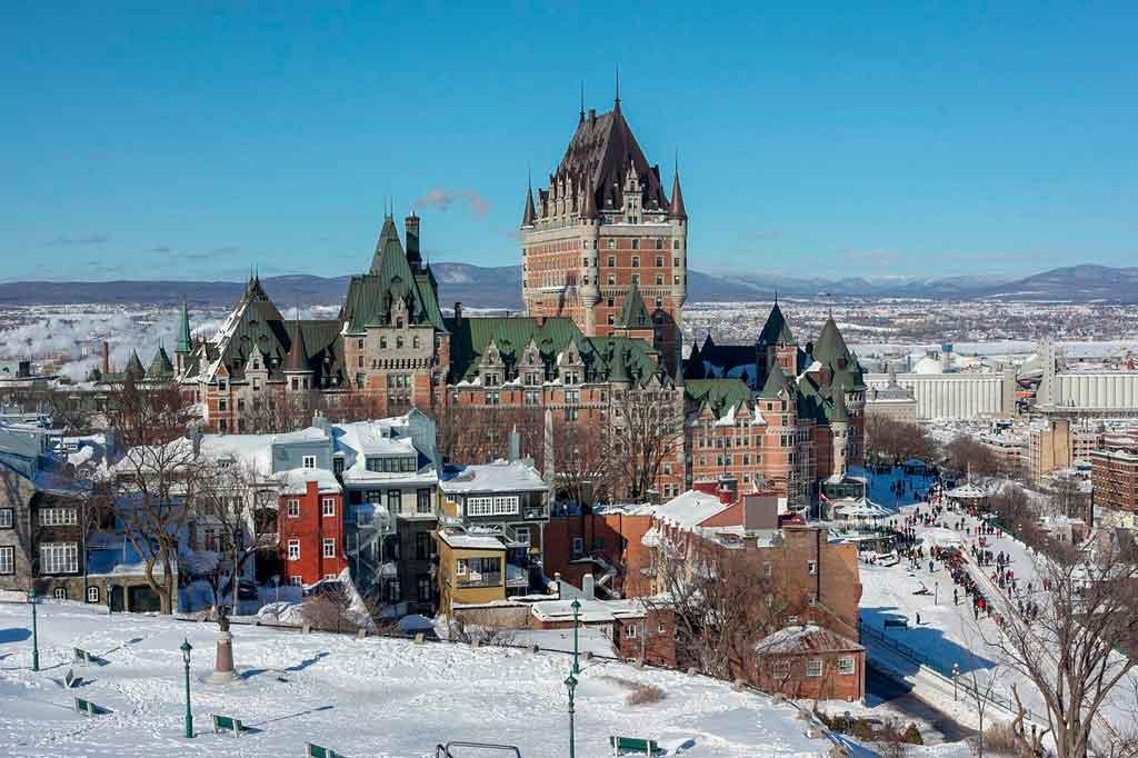 Quebec Canada fairmont la chateau grontanac