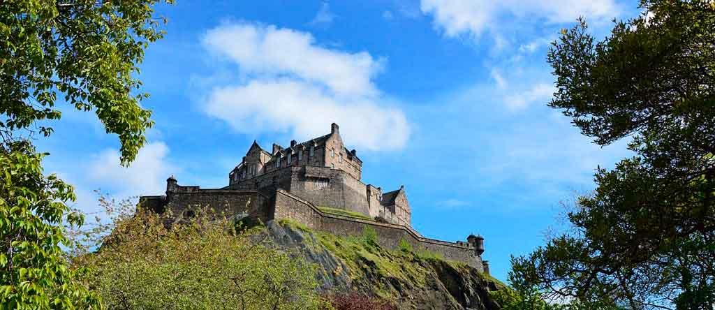 Castelo de Edimburgo Onde fica