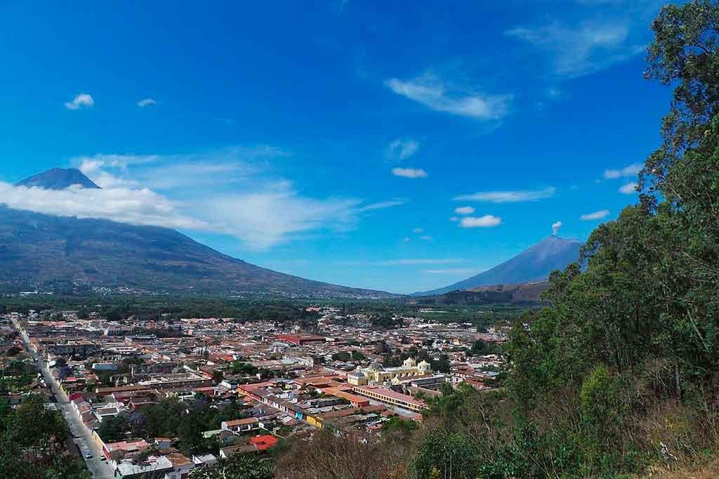 Mapa Guatemala: Cidade de Antigua