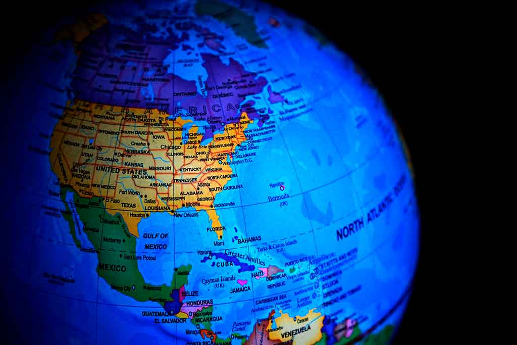 Onde fica o Havaí no mapa mundi?