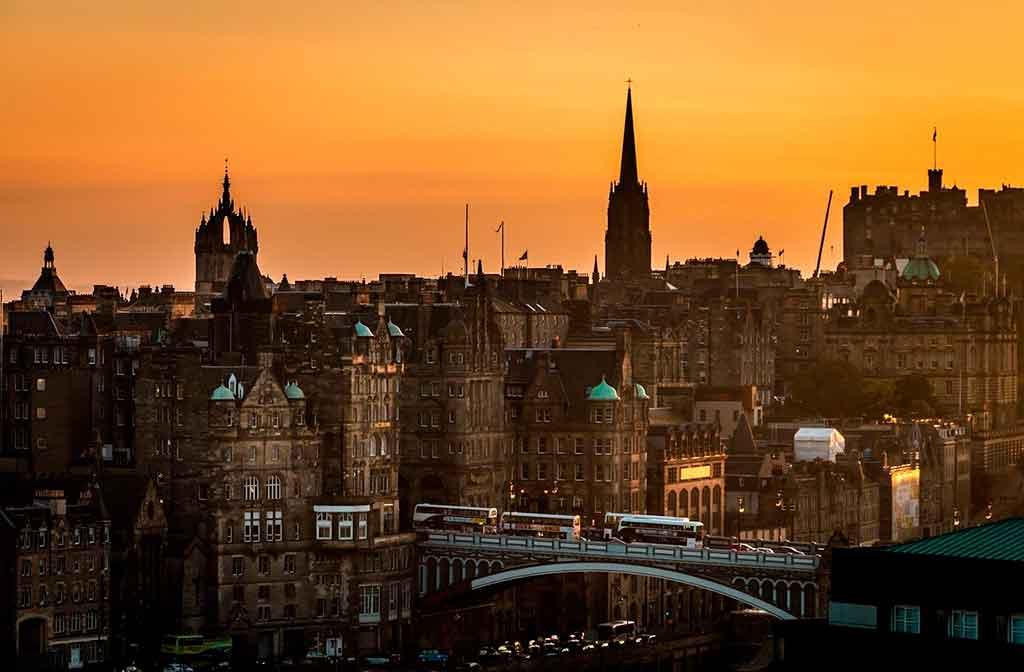 Escócia Mapa: Edimburgo