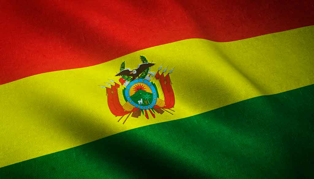 Mapa da Bolívia: língua oficial