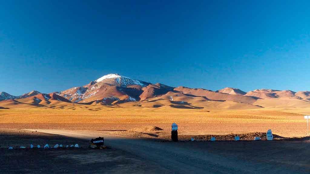 Mapa da Bolívia: Uyuni