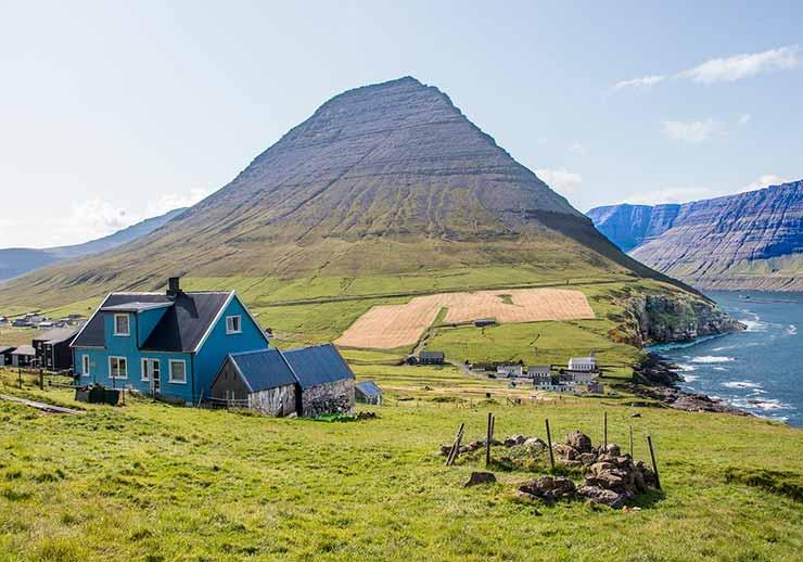 Em qual país ficam as Ilhas Faroé