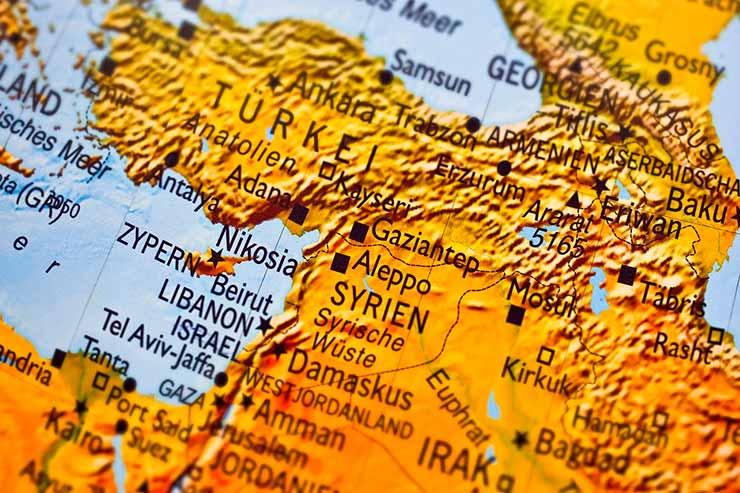 Líbano no mapa mundi