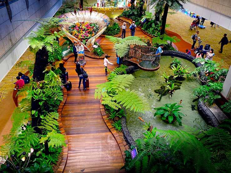 Jardins do aeroporto de Singapura