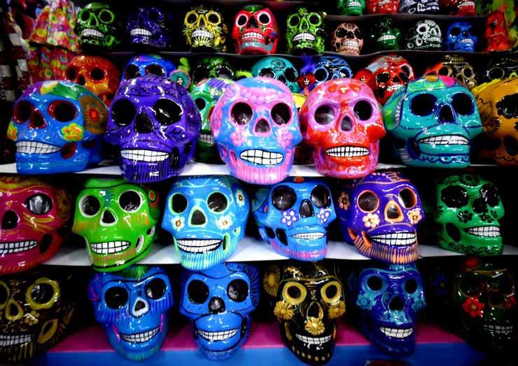 Símbolos do Dia dos Mortos no México