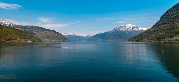 Pontos de interesse nos fiordes da Noruega