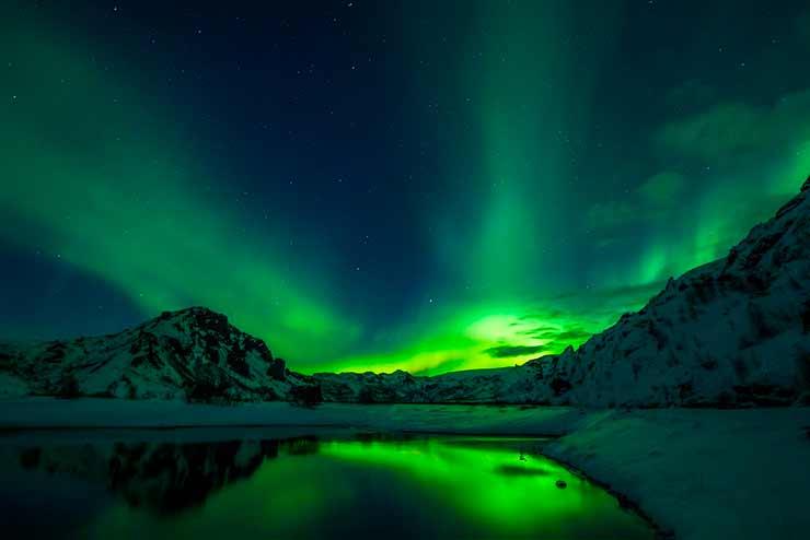 Lagoa Azul + Aurora Boreal, Islândia