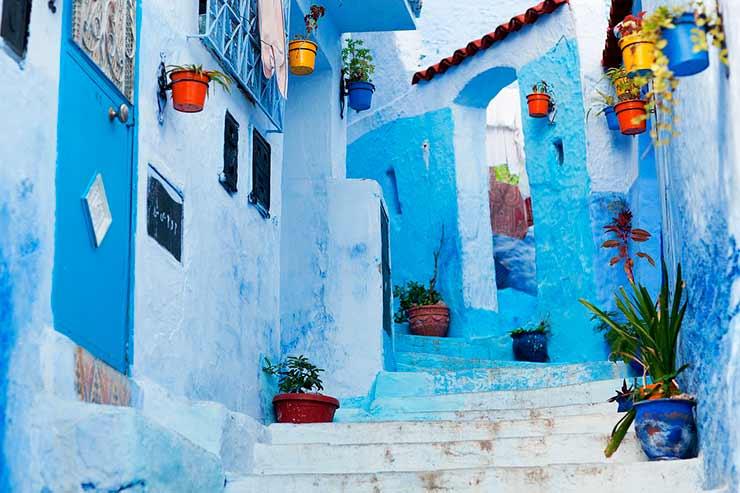Cidade Azul de Chefchaouen, Marrocos