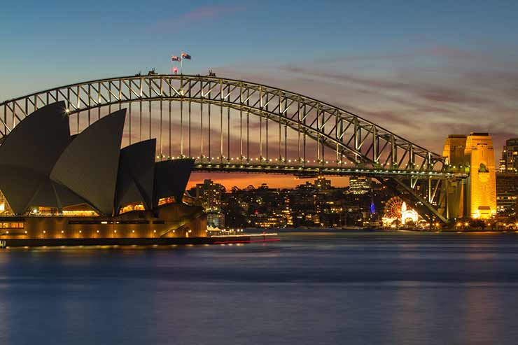Qual a distância entre Byron Bay e Sydney?